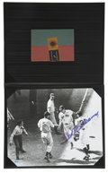 "Autographs:Photos, Ted Williams Single Signed Photograph Upper Deck Authentic. The8x10"" black and white photograph showing Ted crossing the p..."