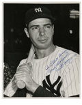 "Autographs:Photos, Joe DiMaggio Single Signed Photograph. The coveted signature of JoeDiMaggio rests on the 8x10"" black and white photo. Sign..."