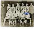 Autographs:Photos, Mickey Mantle Single Signed Basketball Photograph. Wearing number14 on his high school basketball uniform, Mickey Mantle i...
