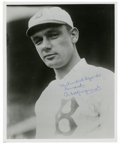 Autographs:Photos, Rube Marquard Single Signed Photograph. Achieving his greatestsuccess with the New York Giants, Rube Marquard was the stri...