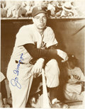 Baseball Collectibles:Others, Joe DiMaggio Signed Large Photograph & Tommy Henrich InscribedPhotograph. Interesting pair celebrates the mid-1930's Yanke...