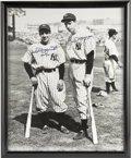 Autographs:Photos, Joe DiMaggio & Phil Rizzuto Signed Large Photograph. The Hallof Fame Yankees were heroes to legions of New York City Itali...