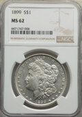 Morgan Dollars: , 1899 $1 MS62 NGC. NGC Census: (1569/7339). PCGS Population: (1925/11399). CDN: $250 Whsle. Bid for NGC/PCGS MS62. Mintage 3...