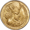 Ancients:Oriental, Ancients: SASANIAN KINGDOM. Shapur I the Great (AD 240-272). AV dinar (22mm, 7.29 gm, 4h). ANACS AU 50....