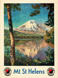 "Movie Posters:Miscellaneous, Mt. St. Helens (Northern Pacific Railway, 1924). Rolled, Very Fine. Travel Poster (30"" X 40"") Gustav Krollmann Artwor..."