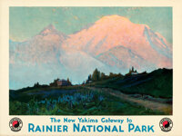"Northern Pacific Railway Lot (1924). Rolled, Very Fine-. Travel Posters (2) (30"" X 40"") Sydney Laurence Artwor..."