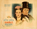 "Movie Posters:Drama, Juarez (Warner Bros., 1939). Fine on Linen. Linen Finish Half Sheet (22"" X 28"").. ..."