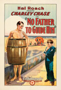 """Movie Posters:Comedy, No Father to Guide Him (Pathé, 1925). Very Fine on Linen. One Sheet (27.5"""" X 40.75"""").. ..."""