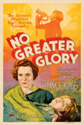 Movie Posters:Drama, No Greater Glory (Columbia, 1934). Very Fine+ on Linen.