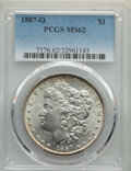 Morgan Dollars: , 1887-O $1 MS62 PCGS. PCGS Population: (2555/8298). NGC Census: (1925/6670). CDN: $82 Whsle. Bid for NGC/PCGS MS62. Mintage ...