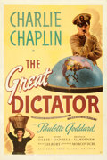 Movie Posters:Comedy, The Great Dictator (United Artists, 1940). Fine/Very Fine ...