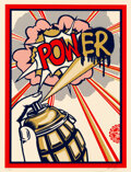 Prints & Multiples, Shepard Fairey (b. 1970). Pow(er), 2010. Screenprint in colors on speckled cream paper. 24 x 18 inches (61 x 45.7 cm) (s...