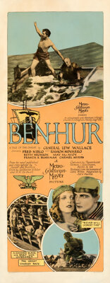 "Ben-Hur (MGM, 1925). Very Good on Paper. Insert (14"" X 36"")"