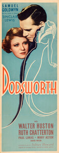 "Movie Posters:Drama, Dodsworth (United Artists, 1936). Folded, Fine/Very Fine. Insert (14"" X 36""). Drama. . ..."