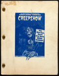 """Movie Posters:Horror, Creepshow by Stephen King (Warner Bros., 1979). Fine/Very Fine. Original First Draft Script (153 Pages, 8.5"""" X 11""""). . ..."""