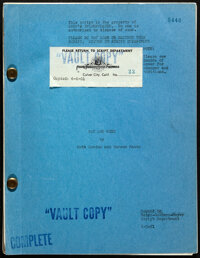 Pat and Mike by Ruth Gordon and Garson Kanin (MGM, 1951). Fine/Very Fine. Original Vault Copy Script (142 Pages, 8.5&quo...