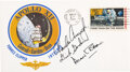 Explorers:Space Exploration, Apollo 12 Crew-Signed Insurance Cover Originally from the Personal Collection of Mission Support Crew Member Jerry Carr, Certi...