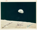 """Explorers:Space Exploration, Apollo 8: """"Earthrise"""" Original NASA """"Red Number"""" Color Pho..."""