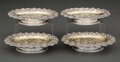 Silver & Vertu, A Set of Four Tiffany & Co. Partial Gilt Silver Salvers, New York, 1883. Marks: TIFFANY & Co., 7382 MAKERS 9159, STERLING ... (Total: 4 )