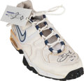 Football Collectibles:Others, 1997 Emmitt Smith Worn & Signed Sneaker with George Anderson Provenance....