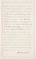 Autographs:U.S. Presidents, Abraham Lincoln Blockade Pass Signed ...