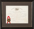 Autographs:U.S. Presidents, James Garfield Signed Postmaster's Appointment....