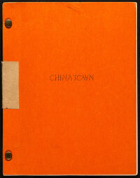 "Chinatown by Robert Towne (Paramount, 1973). Very Fine. Autographed Original Second Draft Script (153 Pages, 8.5"" X..."