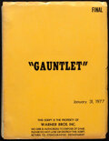 Movie Posters:Action, The Gauntlet by Dennis Shryack and Michael Butler (Warner Bros., 1977). Very Fine-. Original Final Shooting Script (145 page...