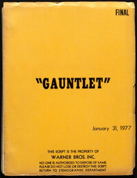 The Gauntlet by Dennis Shryack and Michael Butler (Warner Bros., 1977). Very Fine-. Original Final Shooting Script (145...