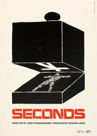"""Seconds by Saul Bass (Paramount, c. 1985). Very Fine on Linen. Signed Limited Edition Print (25"""" X 35.25"""")..."""
