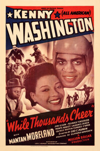 """While Thousands Cheer (Leo C. Popkin, 1940). Fine on Linen. One Sheet (27"""" X 41"""")"""