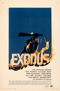 """Movie Posters:Drama, Exodus (United Artists, 1960). Very Fine- on Linen. Autographed One Sheet (27"""" X 41"""") Saul Bass Artwork.. ..."""