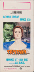 "Movie Posters:Foreign, Tristana (Dear, 1970). Folded, Fine/Very Fine. Italian Locandina (13"" X 27.75"") Averardo Ciriello Artwork. Foreign.. ..."