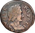 Colonials, 1760 1/2 P Hibernia-Voce Populi Halfpenny, P Below Bust -- Environmental Damage -- NGC Details. Fine. Nelson 11....