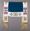 American Indian Art:Beadwork and Quillwork, A Sioux Beaded Hide/Cloth Saddle Blanket ...