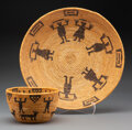 American Indian Art:Baskets, Two Southwest Pictorial Coiled Basketry Items ... (Total: 2 )