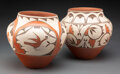 American Indian Art:Pottery, Two Zia Polychrome Jars... (Total: 2 )
