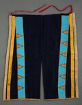 American Indian Art:Beadwork and Quillwork, A Pair of Sioux Man's Beaded Hide / Cloth Leggings... (Total: 2 )