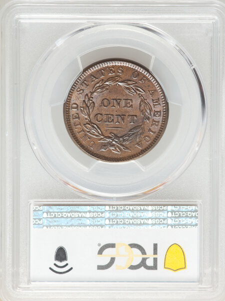 1838 1C, BN CAC PCGS Secure 64 PCGS