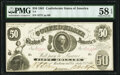 Confederate Notes:1861 Issues, T8 $50 1861 PF-4 Cr. 18 PMG Choice About Unc 58 EPQ.. ...
