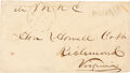 Autographs:Military Figures, Thomas R.R. Cobb Franked Transmittal Cover Signed ...