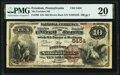 National Bank Notes:Pennsylvania, Freedom, PA - $10 1882 Brown Back Fr. 490 The Freedom National Bank Ch. # 5454 PMG Very Fine 20.. ...