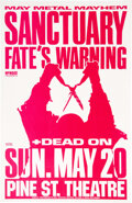 """Movie Posters:Rock and Roll, Sanctuary and Fate's Warning at Pine St. Theatre & Other Lot (1989). Rolled, Very Fine. Concert Posters (3) (11"""" X 17""""). Roc... (Total: 3 Items)"""