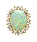 Estate Jewelry:Rings, Opal, Diamond, Gold Ring . ...
