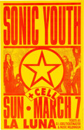 Music Memorabilia:Photos, Sonic Youth La Luna Concert Poster Signed by Designer Mike King (1993). ...