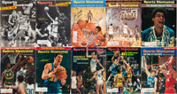 1990's John Wooden Signed Sports Illustrated Magazines Lot of 10