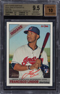 Baseball Cards:Singles (1970-Now), 2015 Topps Heritage Real One Autographs Francisco Lindor (Red Ink) #FL BGS Gem Mint 9.5 - Auto 10 - #'s 21/66. ...