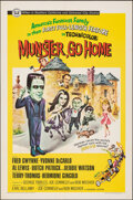 "Movie Posters:Comedy, Munster, Go Home (Universal, 1966). Folded, Very Fine+. One Sheet (27"" X 41""). Comedy.. ..."