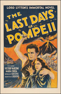 "The Last Days of Pompeii (Società Italiana Grandi Films, 1926). Fine/Very Fine on Linen. One Sheet (27"" X 41..."