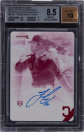 Baseball Cards:Singles (1970-Now), 2015 Bowman's Best Francisco Lindor Best of '15 Autographs Printing Plate Magenta #B15-FL BGS NM-MT+ 8.5, Auto 10. ...